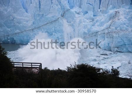 Perito Moreno glacier calving from over 100 foot face 4