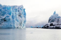 Perito Moreno Glacier in Patagonia, Argentina during winter