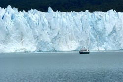 Perito Moreno Glacier located in the Los Glaciares National Park in the south west of Santa Cruz province, Argentina