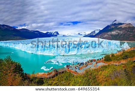Perito Moreno glacier panoramic landscape in Patagonia, Argentina Foto stock ©