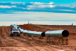 Permian Basin oil and gas pipeline construction