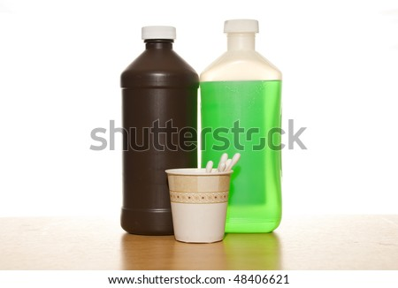 Peroxide and Iodine Bottles with Swabs