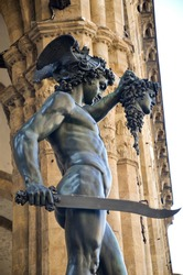Perseus holding the head of Medusa by Cellini