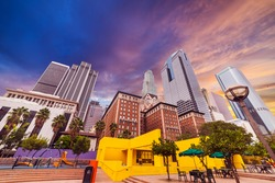 Pershing square in downtown Los Angeles, California