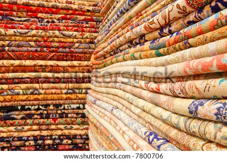 Persian carpets (Iranian carpets and rugs) - stock photo