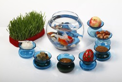 Persian traditional new year objects