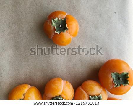 Persimmon fruits wallpaper. High resolution photography.