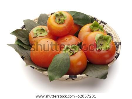 persimmons - stock photo