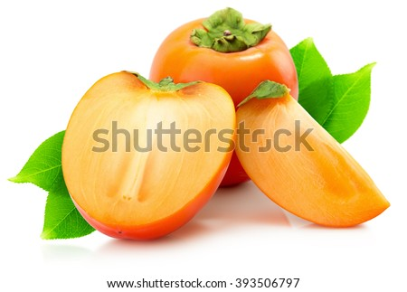 persimmons isolated on the white background