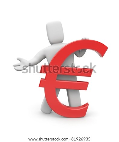 Person and Euro sign