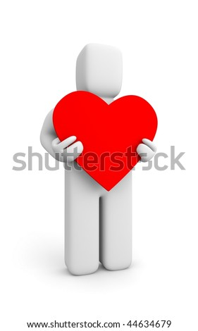 Person and heart