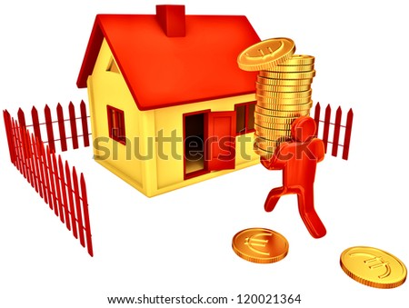 Person invest euro in his future house