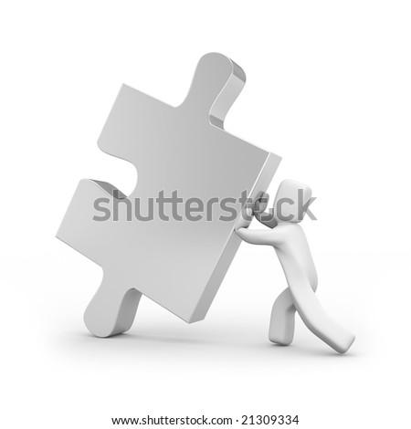 Person push puzzle