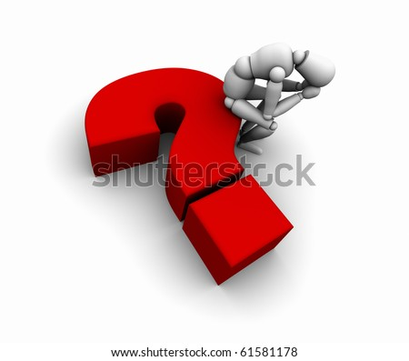 Person Sitting on Question Mark