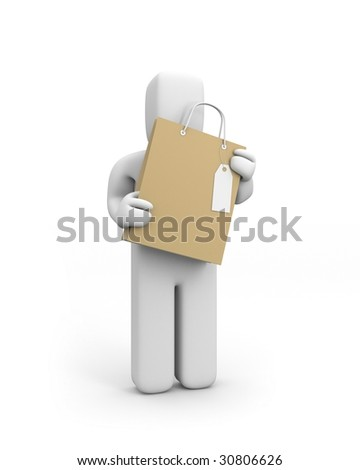 Person with shopping bag