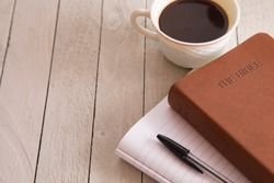 Personal Bible Study with a Cup of Coffee