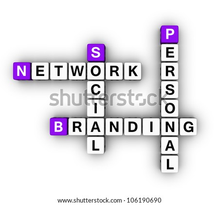 Personal Branding Social Network (cubes crossword series)