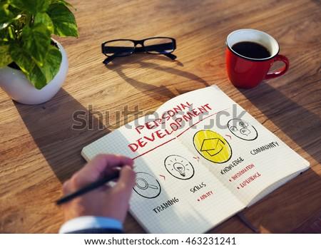 Personal Development Improvement Progress Aspirations Concept #463231241
