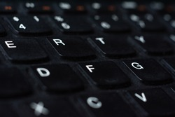 Personal device, keyboard of personal computer close up.