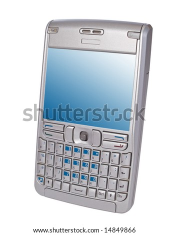 personal digital assistant smartphone isolated on white