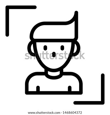 Personal identification icon. Outline personal identification icon for web design isolated on white background