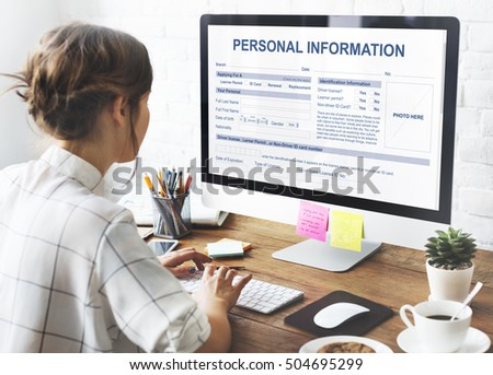 personal information...