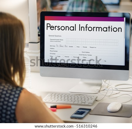 personal information form...