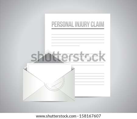 personal injury claim illustration design over a white background