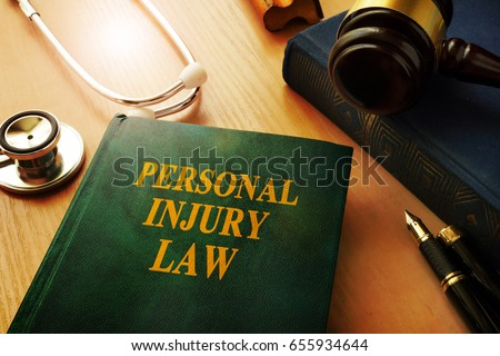 personal injury law book on a...