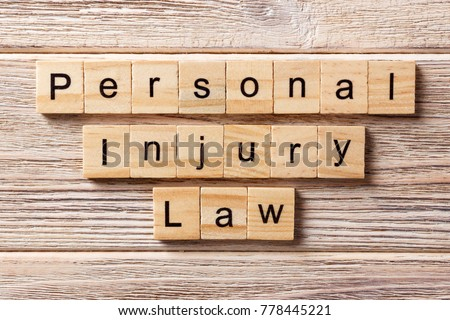 personal injury law word...
