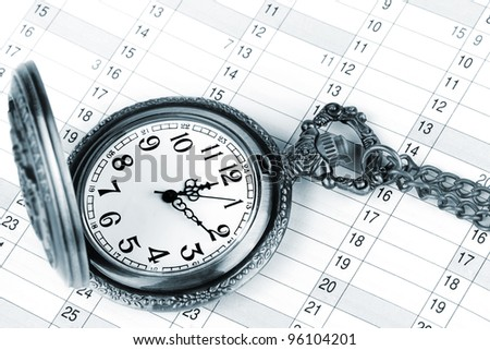 Personal organizer and pocket watch with chain