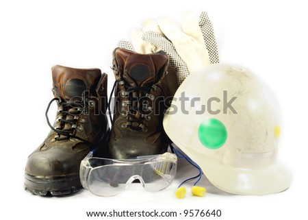 Personal protection personal safety equipment of field engineer used