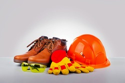 Personal safety workwear and construction.  For safety at work.
