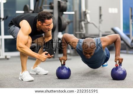 personal trainer motivates...