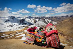 Persons Contemplating the Andes in Perú
