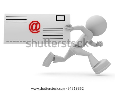 Persons with email letter