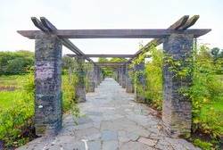 Perspective background with botanical garden in Belfast, Northern Ireland