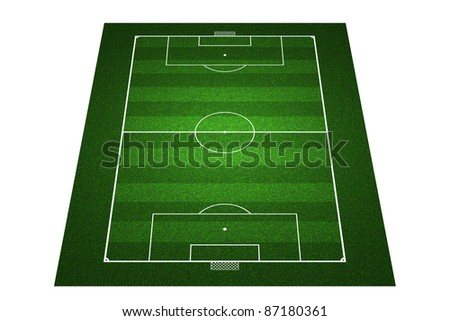 Perspective Football field - stock photo