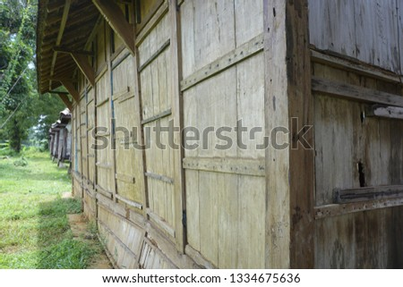 perspective of a wooden house #1334675636