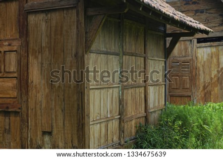 perspective of a wooden house #1334675639