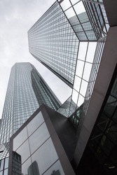 Perspective of modern office buildings