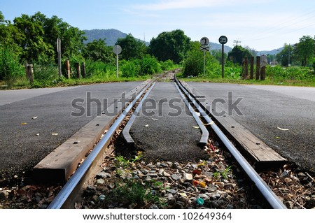 Perspective of railroad