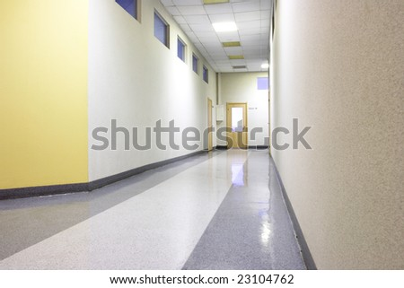 Perspective of the office corridor