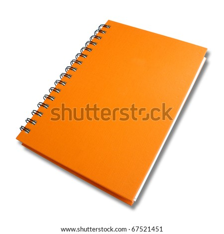 perspective orange note book