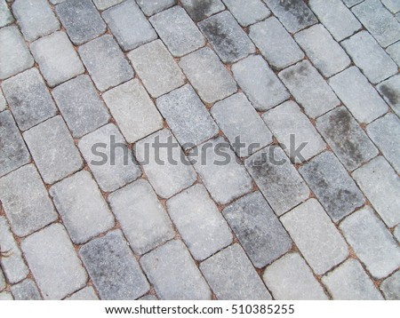 Top View Image Of Brick Road Background And Texture