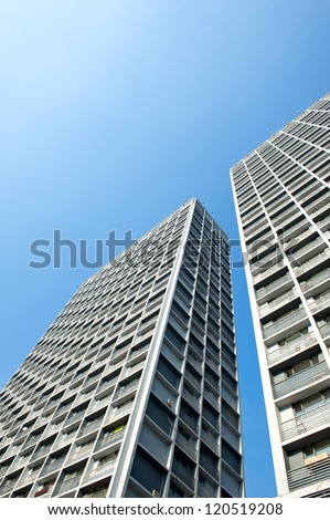 Perspective view of the residential buildings in Shenyang, China.