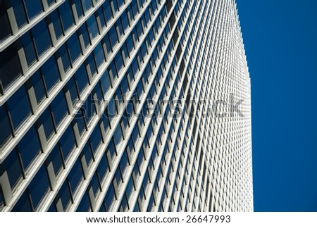 Perspective view on the face of a NYC skyscraper