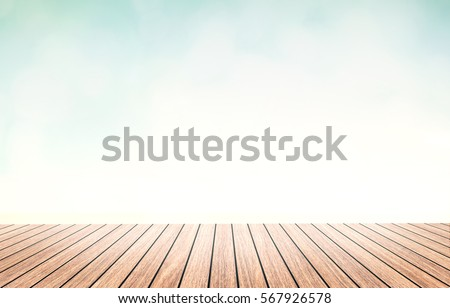 Perspective wood brown color texture with beautiful nature background. Abstract simple photography hardwood gradient wallpaper advertise regular pier beach sand scene concept montage desktop relax hot #567926578