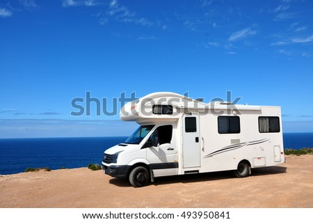 PERTH, AUSTRALIA - February 2016: Motorhome on the road