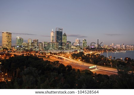 Perth City in the evening